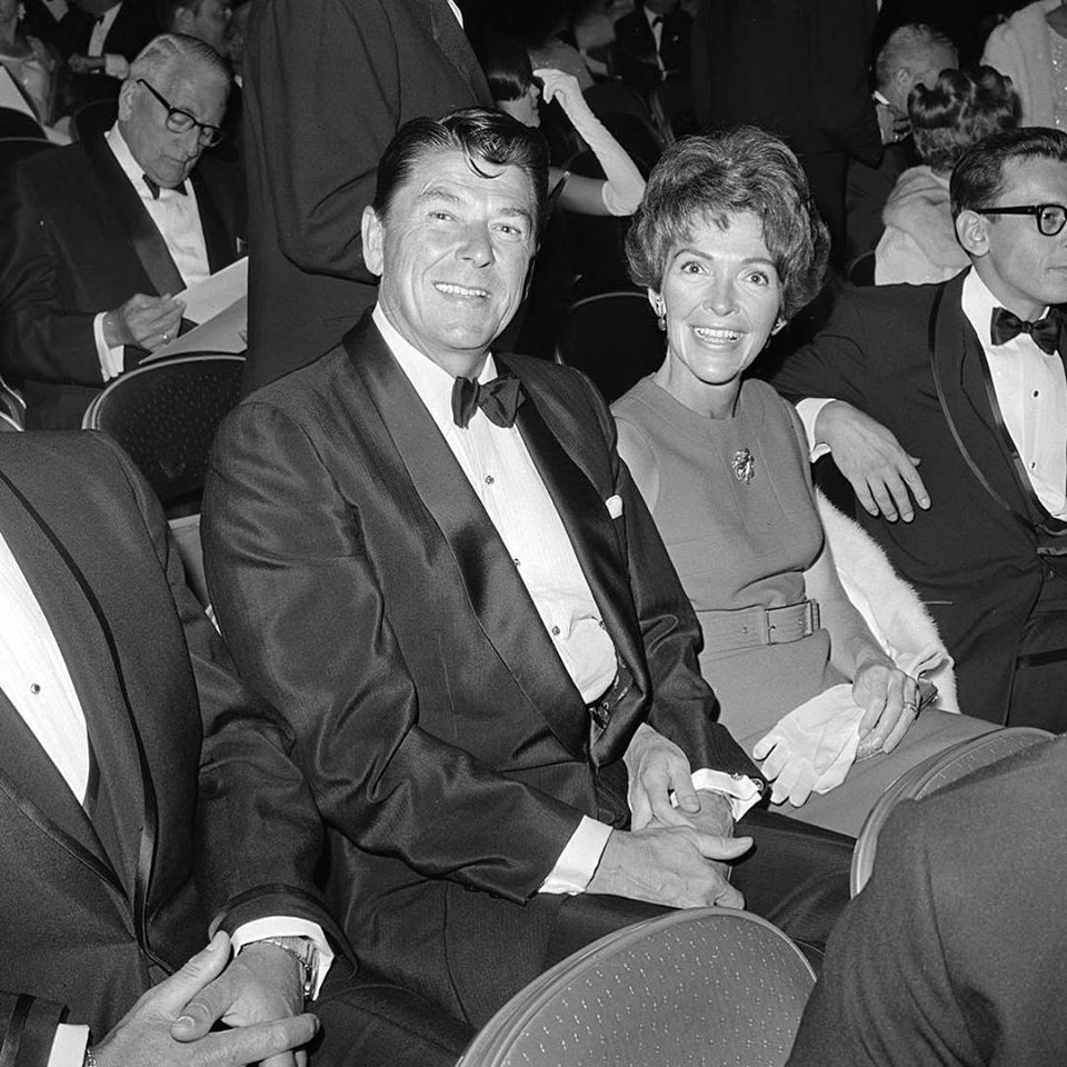 Nancy Reagan and then-Governor Ronald Reagan at the Oscars in 1967