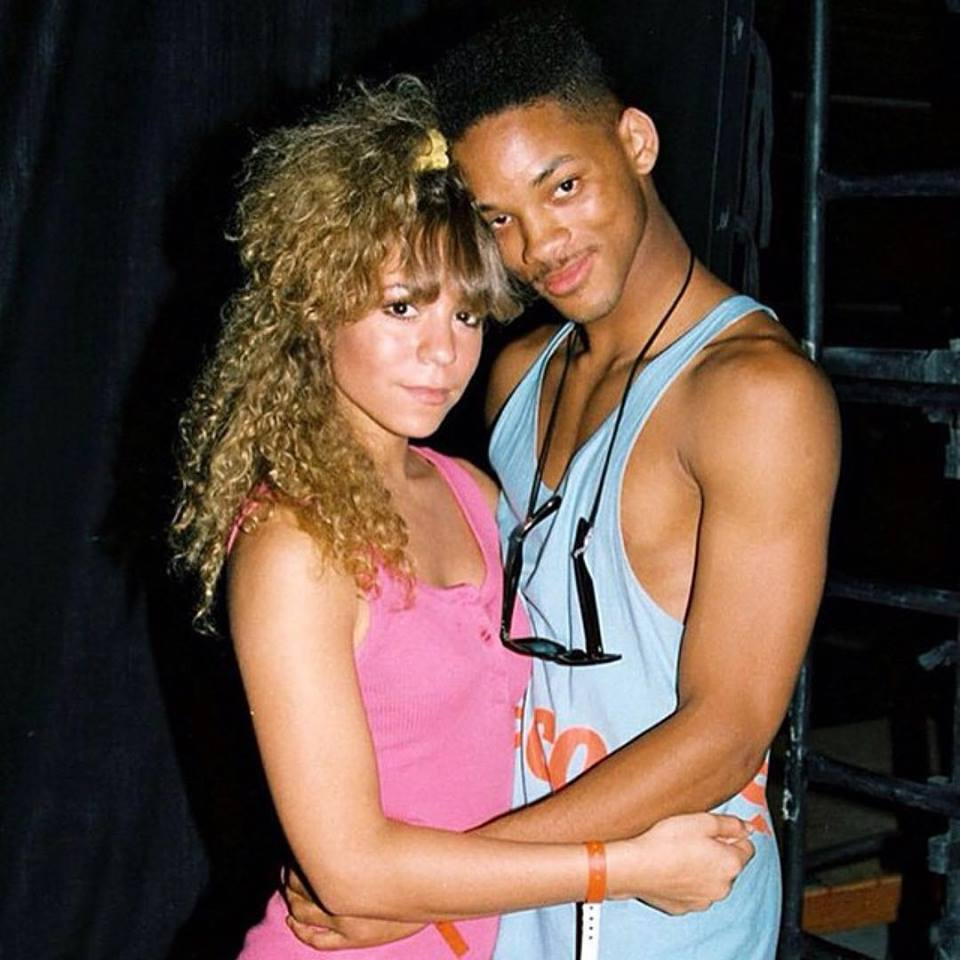18 year old Mariah Carey & 19 year old Will Smith at the 1988 KIIS FM Endless Summer Jam.