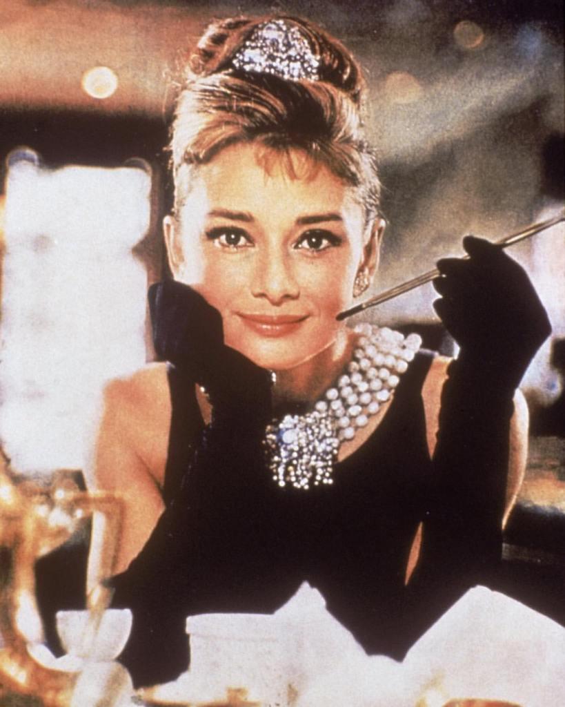 Audrey Hepburn on the set of