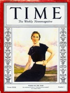 "Image of Wallis Simpson ""Woman of the Year"" 1936"
