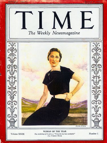 """Image of Wallis Simpson """"Woman of the Year"""" 1936"""