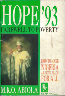Image of M.K.O Abiola's campaign poster, 1993.