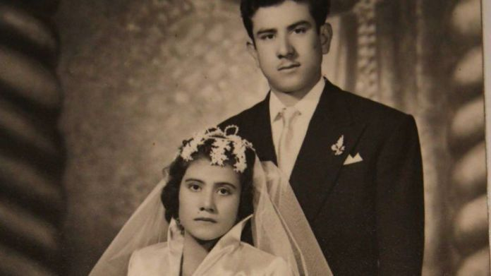 Lina Medina and her husband, Raul Jurado, on their Wedding Day.