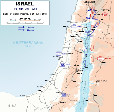 The Battle of Golan Heights, 9–10 June.