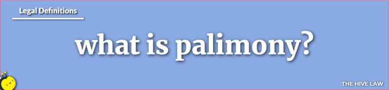 What Is Palimony - Palimony Definition - Palimony vs Alimony - Marvin v Marvin - California Palimony Laws - Palimony In Ohio - Texas Palimony