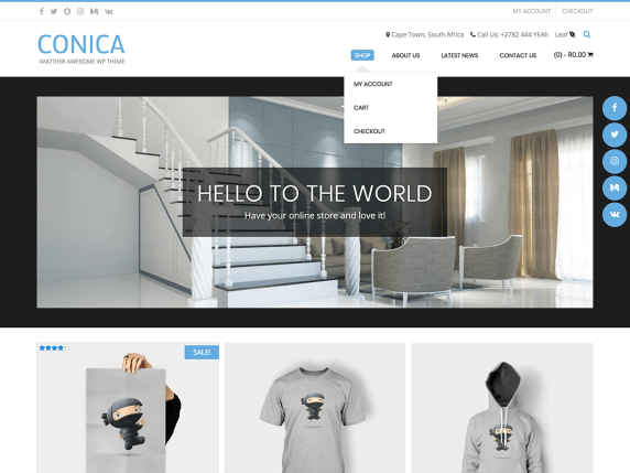 conica Best Free Themes For WordPress
