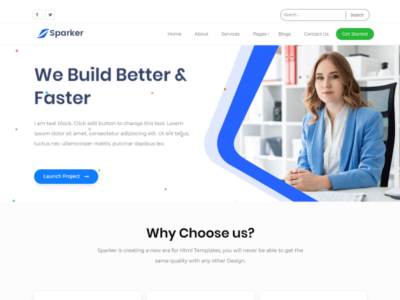 sparker Best Free Themes For WordPress