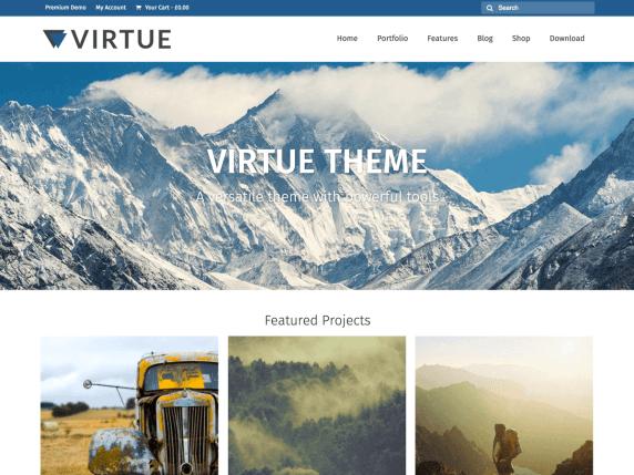 virtue Best Free Themes For WordPress