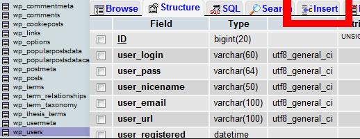 Insert database