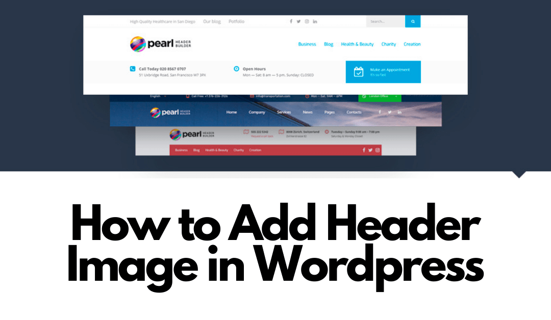 How to Add Header Image in WordPress