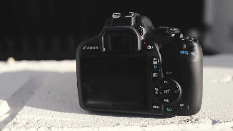 Canon eos 1500d display