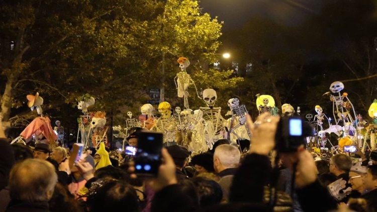 Halloween celebration in new york city