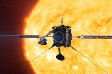 Solar orbiter mission cover