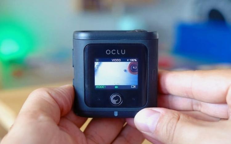 Oclu action camera video recording