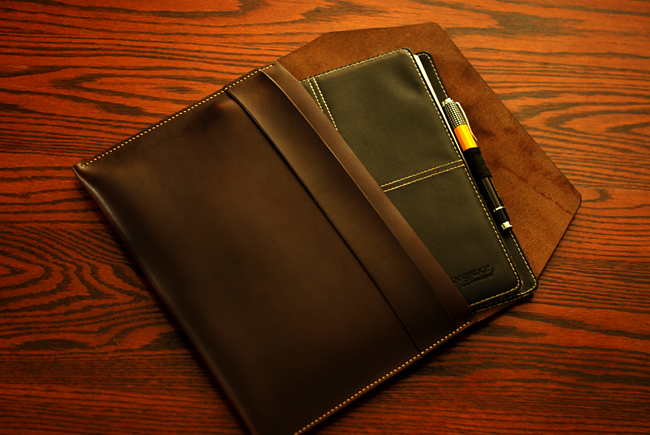 low priced ee1d3 d7dcf Introducing the Oak & Honey leather document holder | The Hogtown Rake