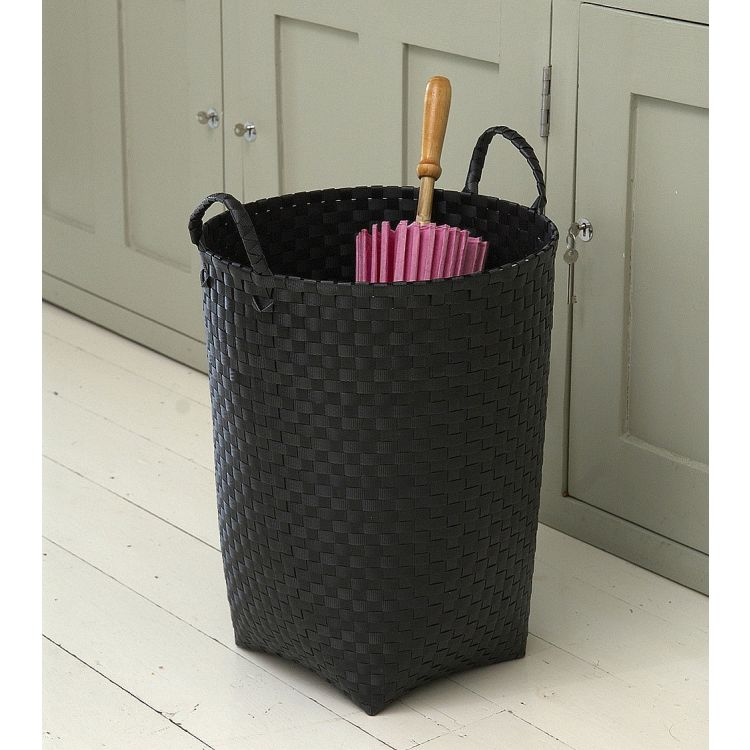 Round Black Laundry Basket