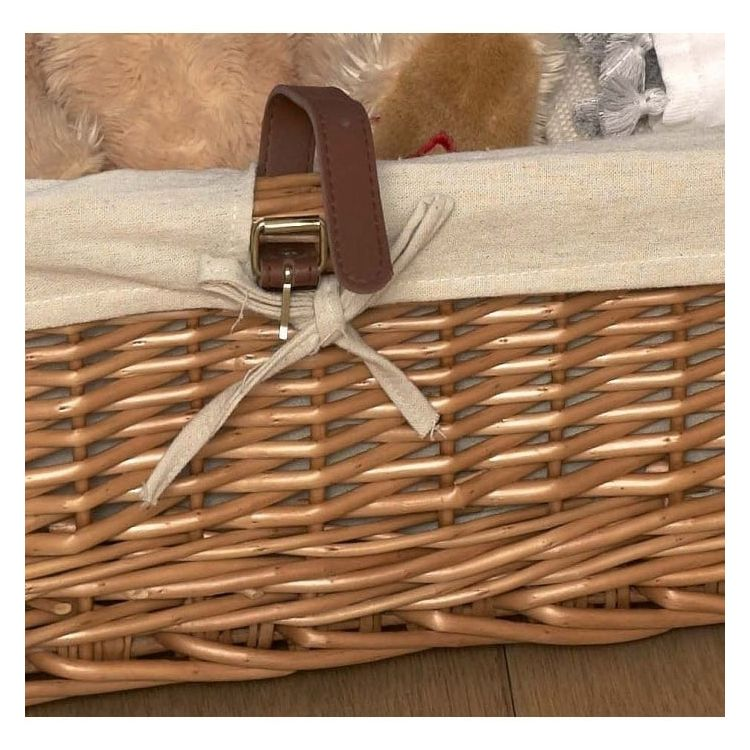 shallow willow wicker underbed stoage