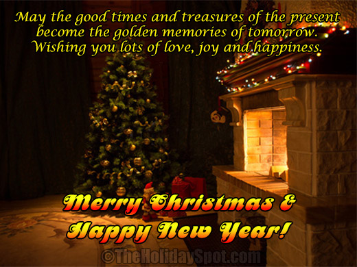 And Merry Family Wishes Friends Christmas