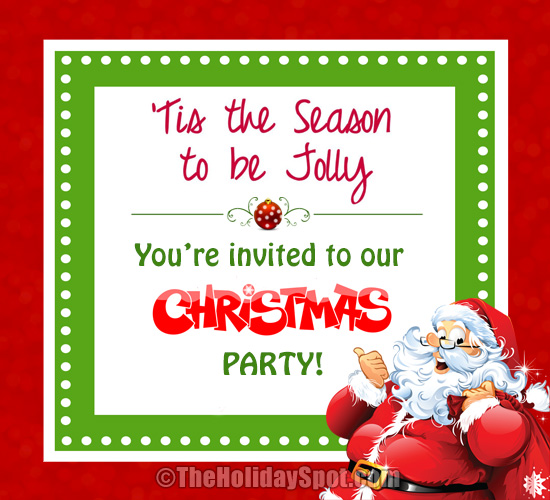 Invitation Card For Christmas – Christmas Invitation Cards