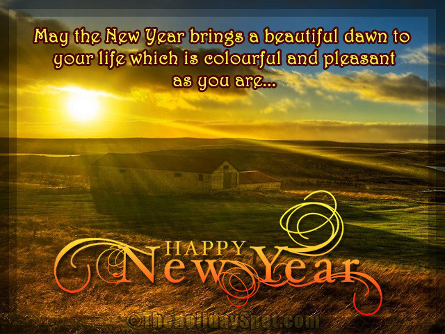 New Year Greeting Cards   Send eCards  wishes cards New Year Greetings with beautiful dawn