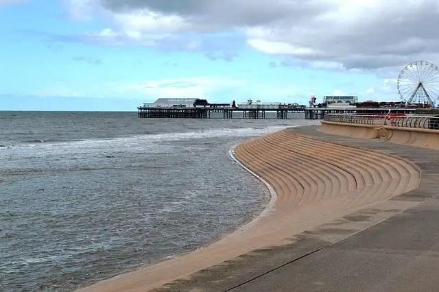 Blackpool Beach Pier Lancashire Uk Coast Seaside
