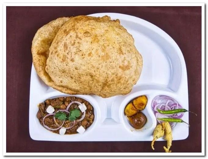 Bhature A large poori