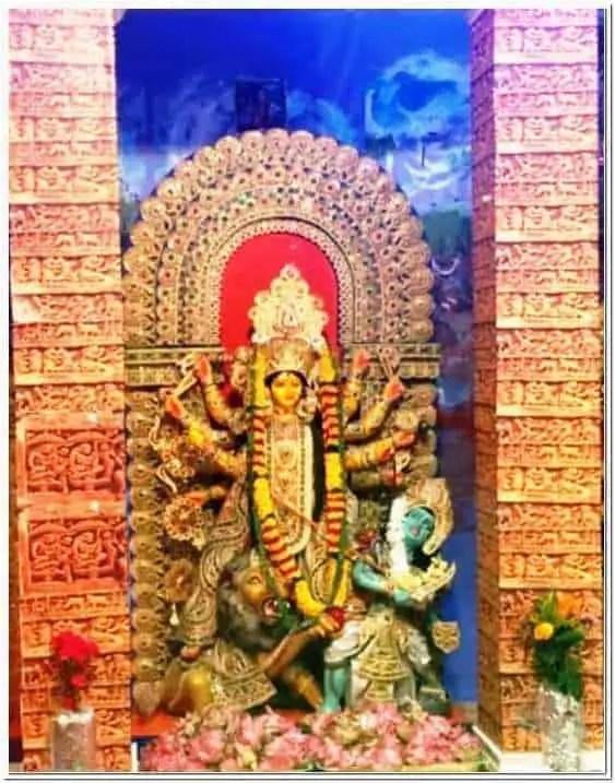 Durga idol of ECDPA East Coast Durga Puja Association
