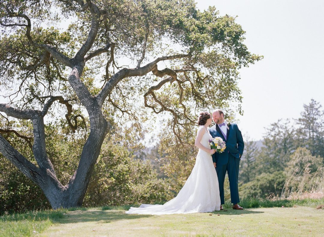 Hollins House couple under the oak trees by Kara Miller