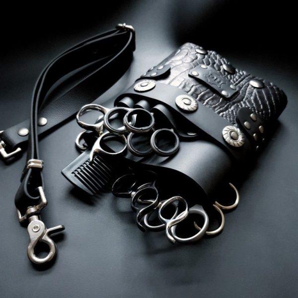 scharenholster black croco
