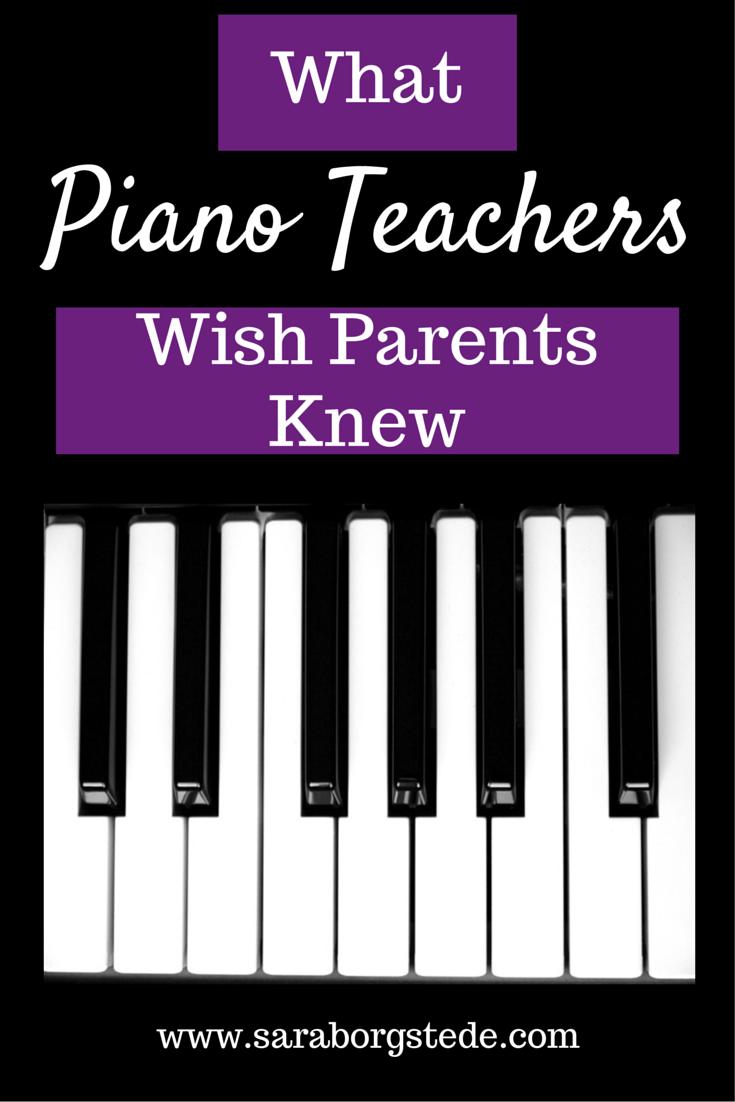 What Piano Teachers Wish Parents Knew