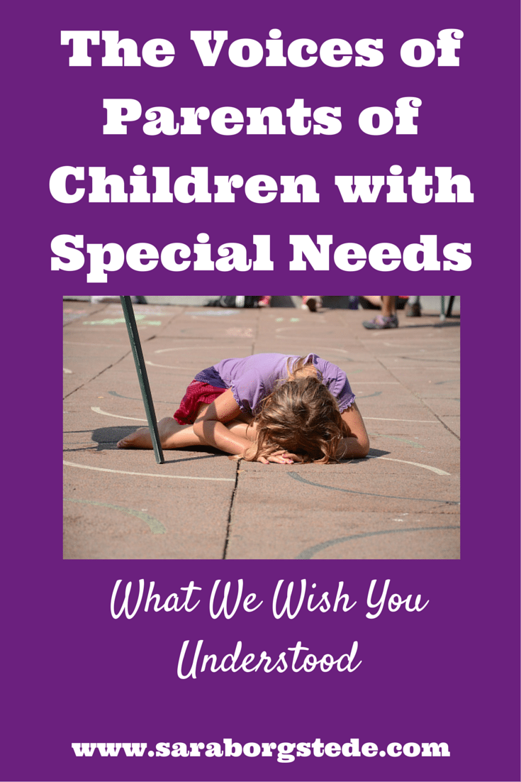 parent interview of a special needs child After the birth of my second daughter and a roller-coaster ride of getting diagnosis's for her special needs, i had an idea to put together a magazine that helped parents of children with special needs to address their issues and concerns about raising a child with special needs.