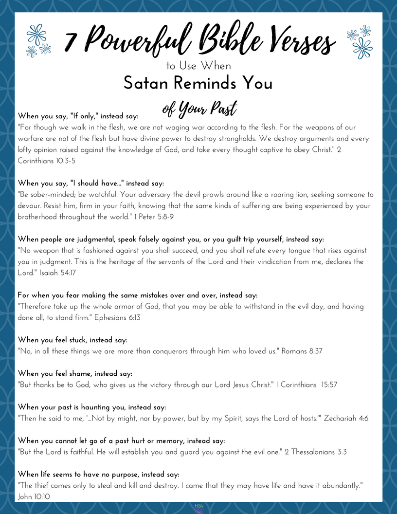 7 powerful bible verses to use when satan reminds you of your past