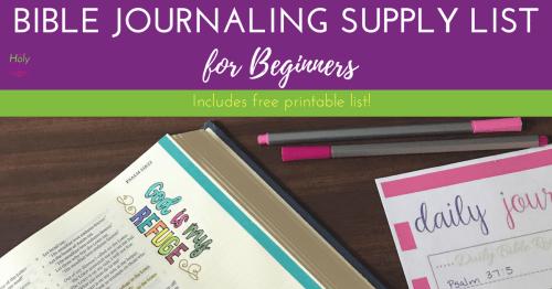 Bible Journaling Supply List for Beginners