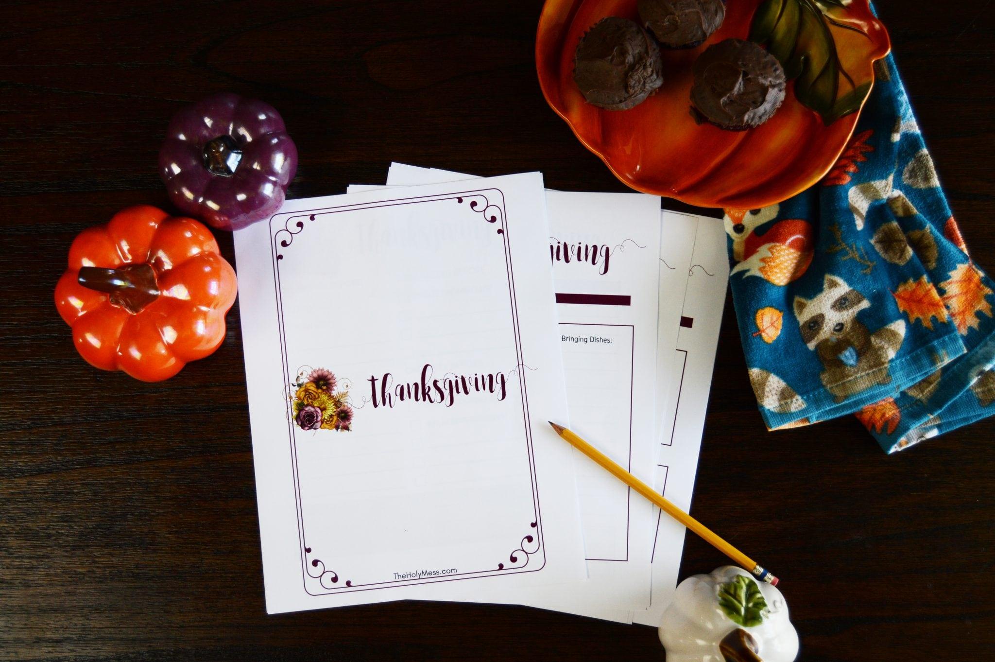 Thanksgiving Printable Planner #thanksgiving #planner #printable