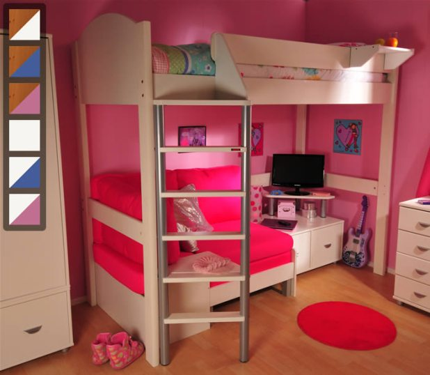 High Sleeper With Desk And Sofa Bed Uk Brokeasshome Com