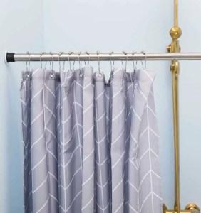 ALLZONE 28-41Inch Shower Curtain Rod