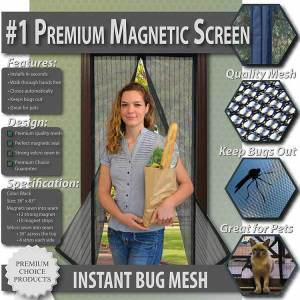 premium magnetic screen door