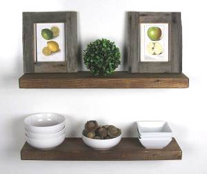 SOLID RUSTICS Handmade Rustic Wood Floating Wall Shelves