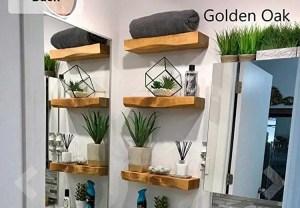 Solid Wood Shabby Chic Floating Shelf