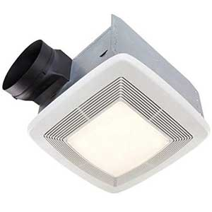 Broan - quiet bathroom exhaust fan with led light