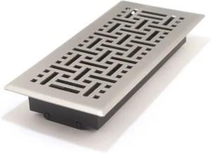 Best decorative floor registers 4x10 solid steel