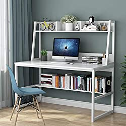 Best Space Saving Home Office Desk with Hutch and Bookshelf