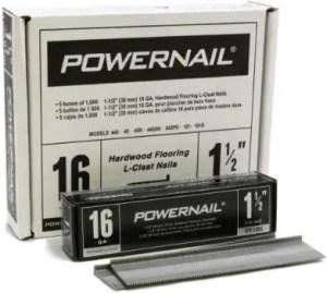 Powernail PowerCleats 16ga L-Cleats Best for 3/4 Hardwood Flooring