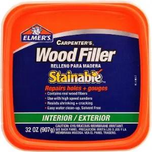 Elmer's E892 Stainable Wood Filler (Best for Large Holes & Gaps)