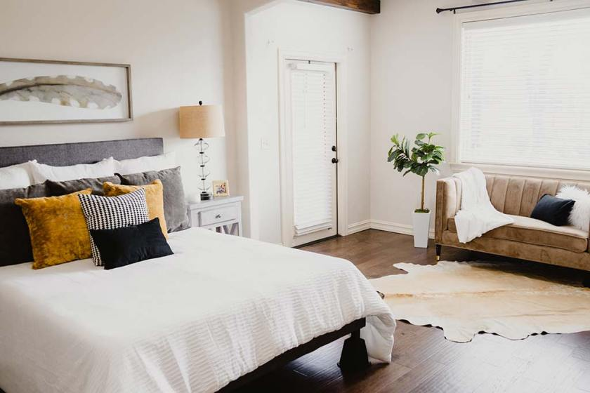 a cool and cozy bedroom design