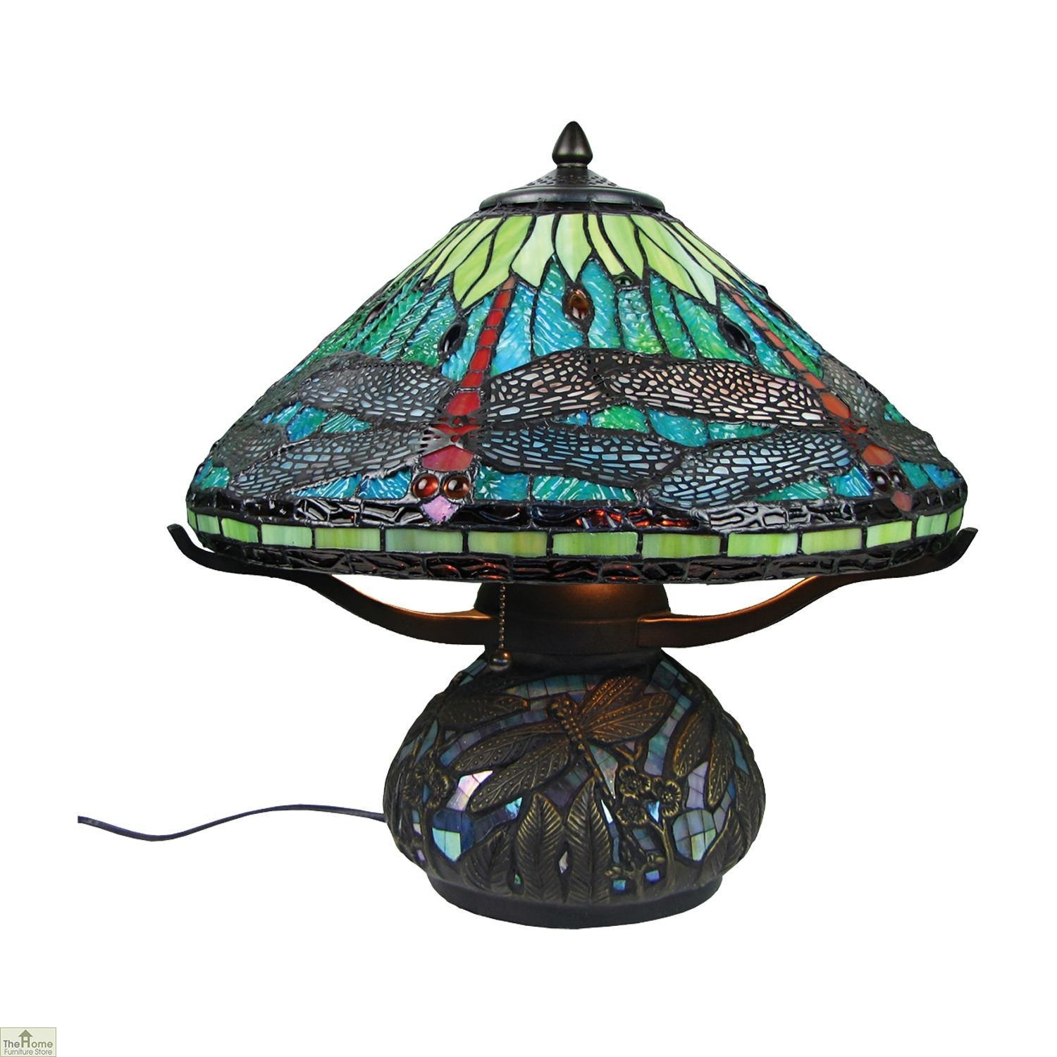 Aqua Blue Dragonfly Table Lamp The Home Furniture Store