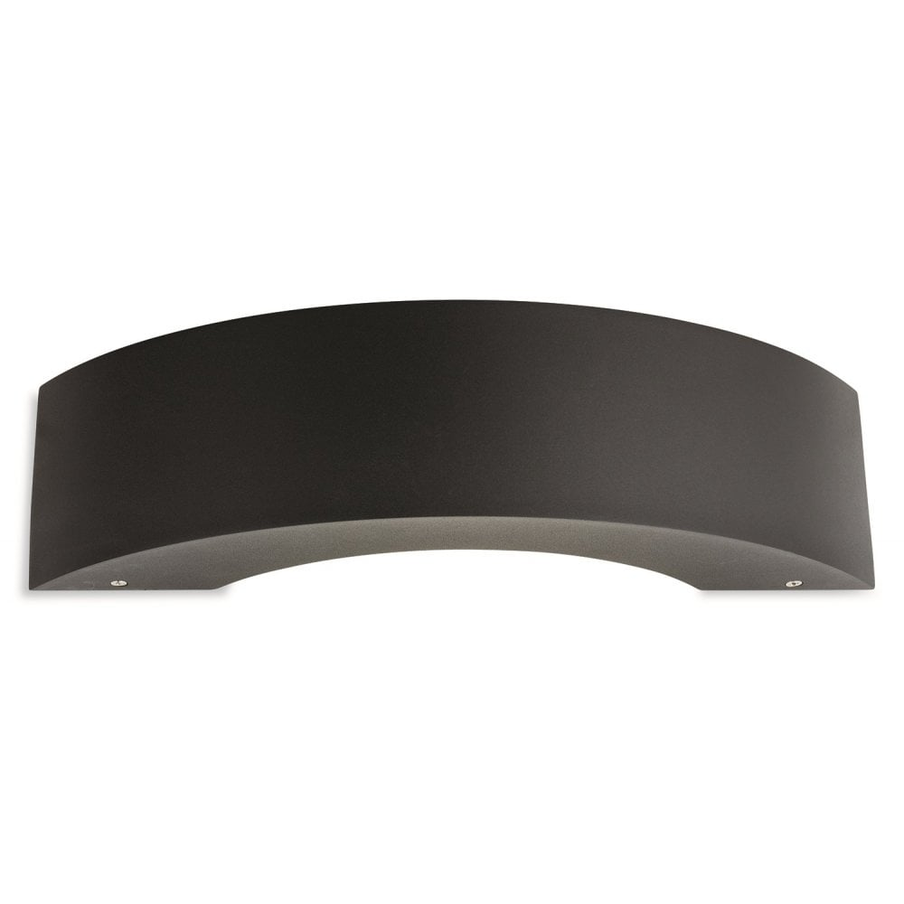 firstlight arch led contemporary outdoor wall light in graphite 3730gp