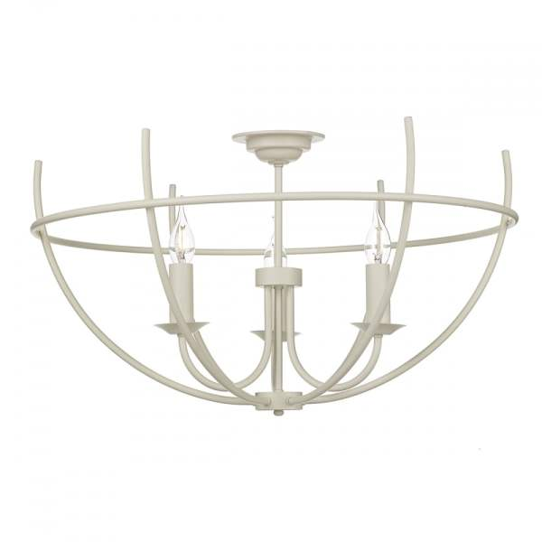 David Hunt Lighting Orb 3 Light Flush Ceiling Light in Cream Finish     Orb 3 Light Flush Ceiling Light in Cream Finish ORB5333