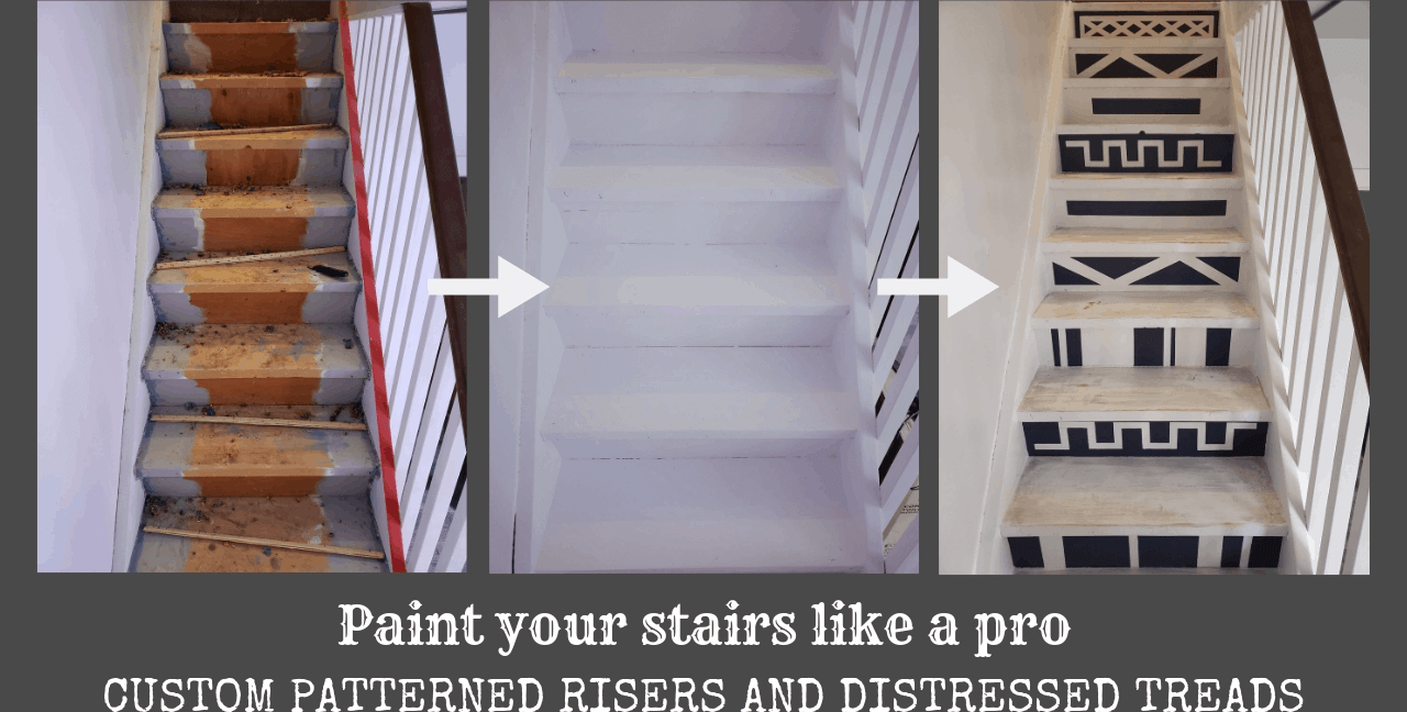 Painted Stair Risers And Treads The Homestud | Painted Risers On Stairs | Flair | Painting | Stained | Basement | Hardwood