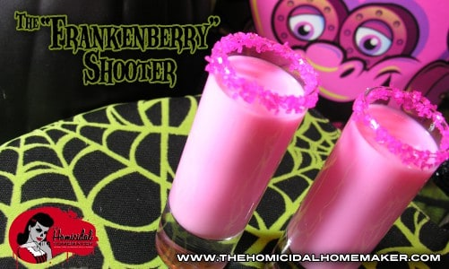 The Frankenberry Shooter – A Monster Cereal Inspired Cocktail Shot!